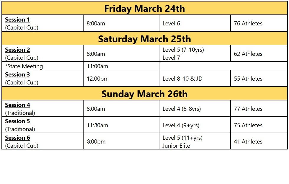 WA State 2017 schedule picture